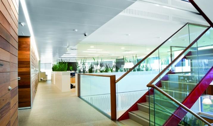 A sparkling clean lobby.