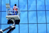 Cleaning windows of a building in Perth